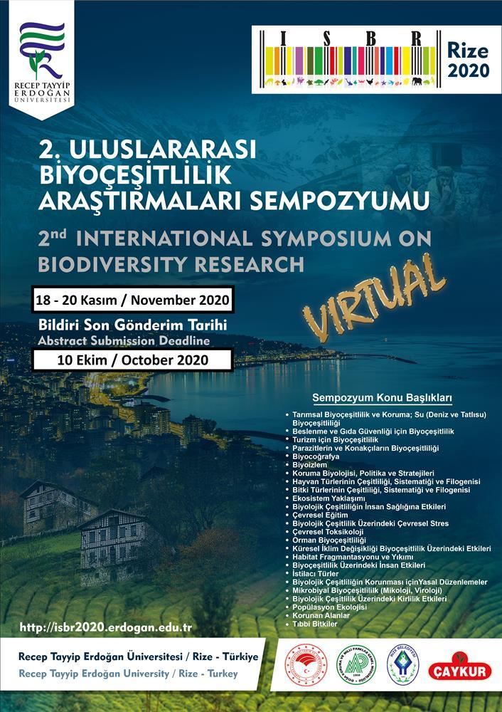 2. Uluslararası Biyoçeşitlilik Araştırmaları Sempozyumu afişi
